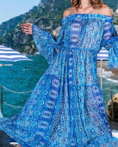 Antica Sartoria Positano By Giacomo Cinque ABITO DONNA Colore BLU Taglia ONE SIZE