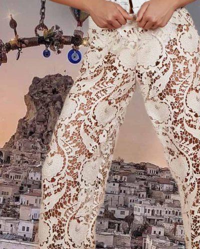 Antica Sartoria Positano By Giacomo Cinque PANTALONE DONNA Colore SABBIA Taglia ONE SIZE