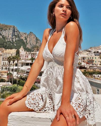 Antica Sartoria Positano By Giacomo Cinque TOP DONNA Colore WHITE Taglia M