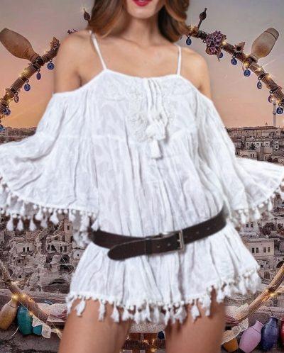 Antica Sartoria Positano By Giacomo Cinque BLUSA DONNA Colore WHITE Taglia ONE SIZE