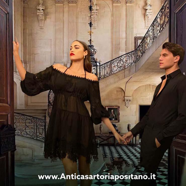 Antica Sartoria Positano By Giacomo Cinque ABITO DONNA Colore NERO Taglia ONE SIZE